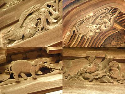 彫刻の数々